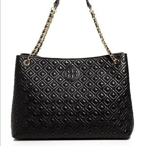 Tory Burch Marion Quilted Slouchy Chain Tote Purse